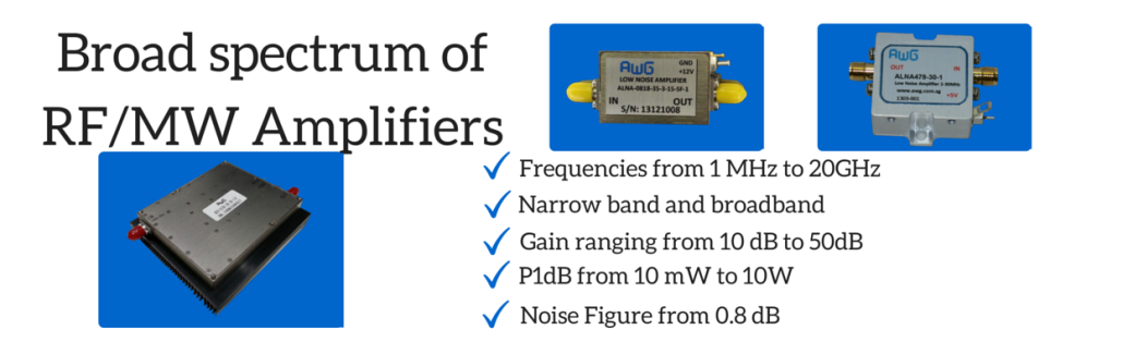 Wide Selection of RF MW amplifier