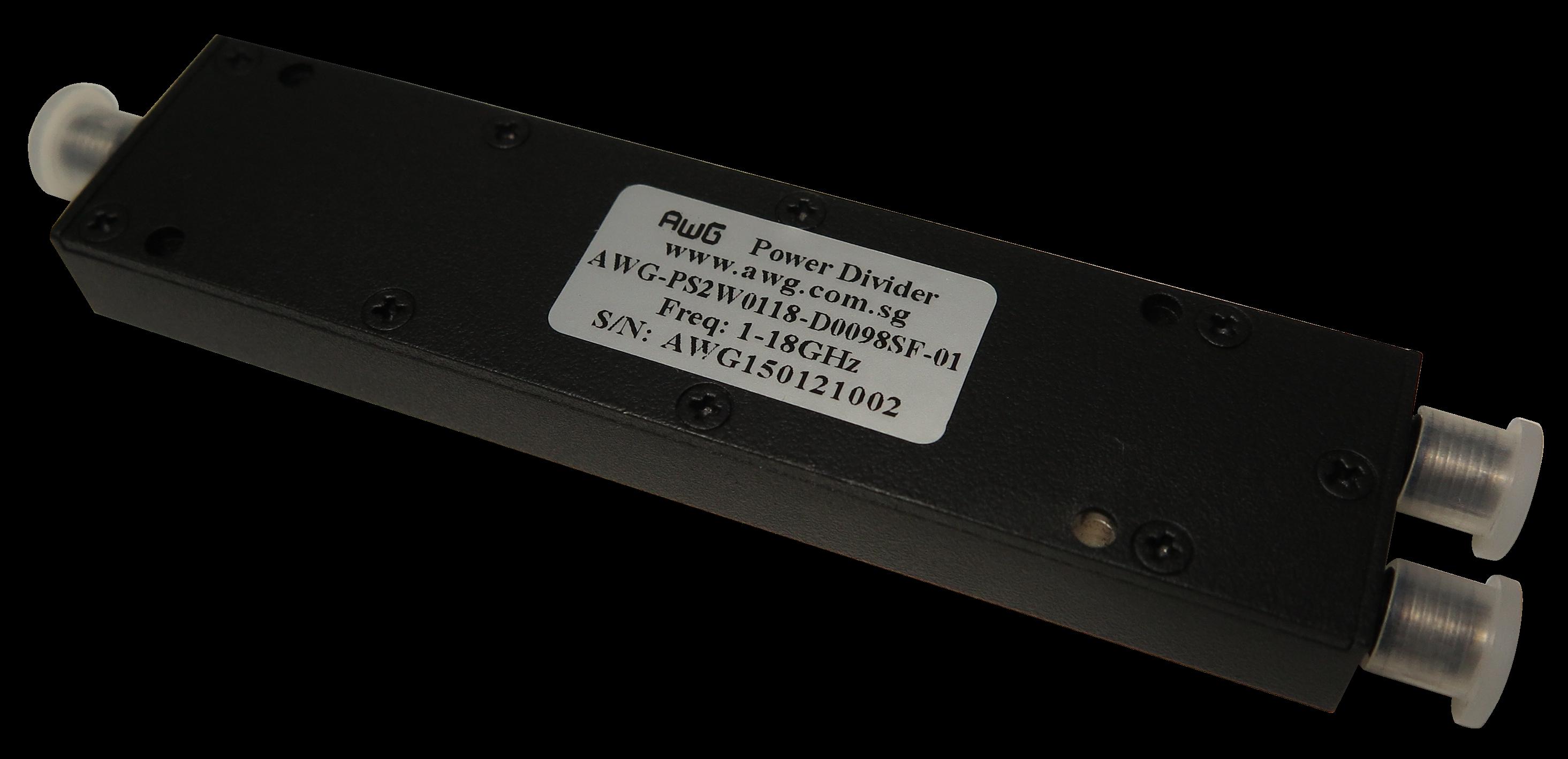 1-18GHz wideband 2 way power splitter