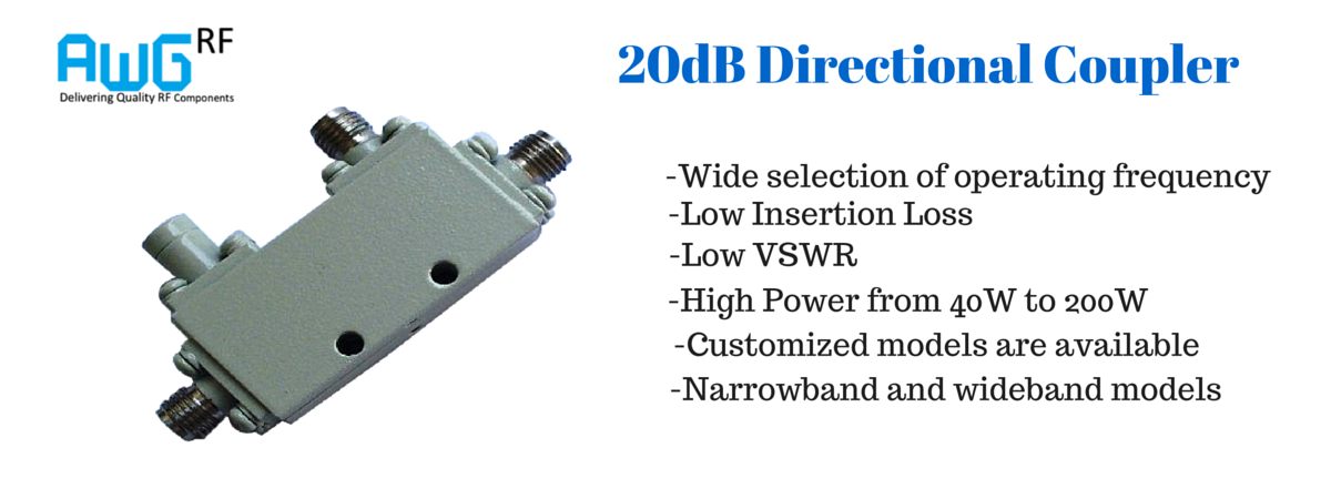 20 dB directional coupler 500MHz to 6GHz