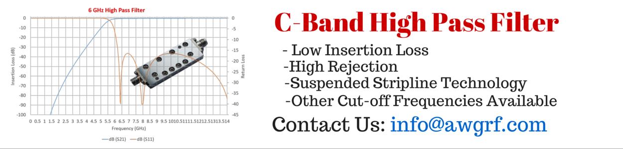 6GHz C-Band High Pass Filter