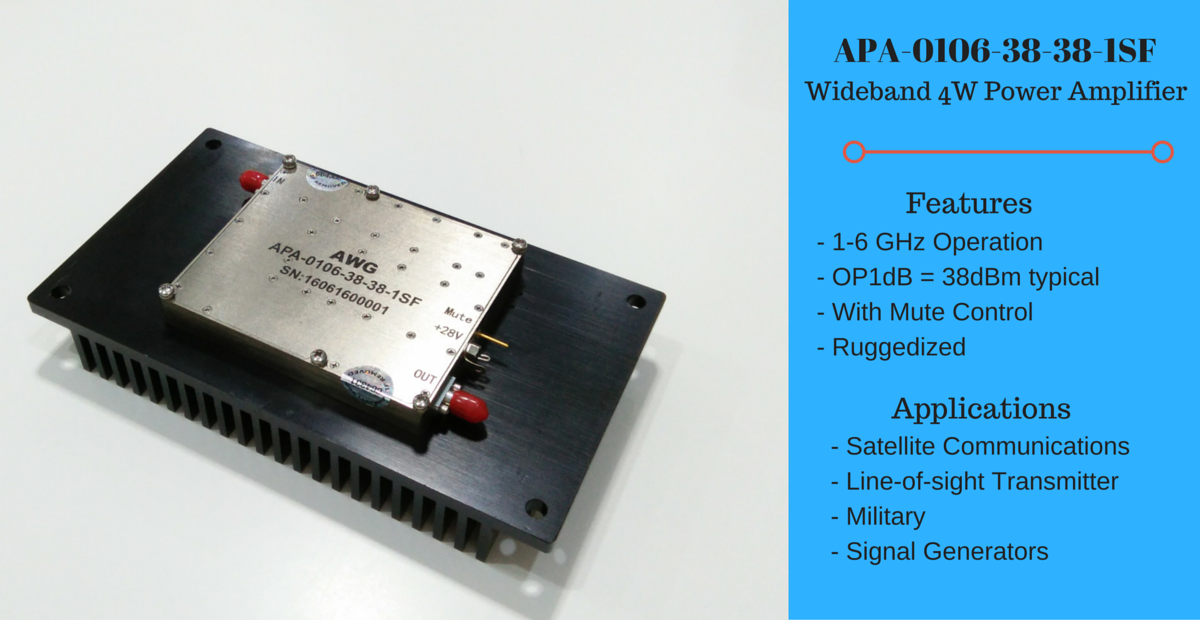 APA-0106-38-38-1SF (1-6GHz 4W Power Amplifier)